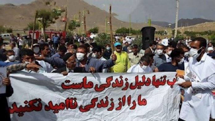 Farrokhshahr's people protest against the so-called 'Beheshtabad' tunnel project
