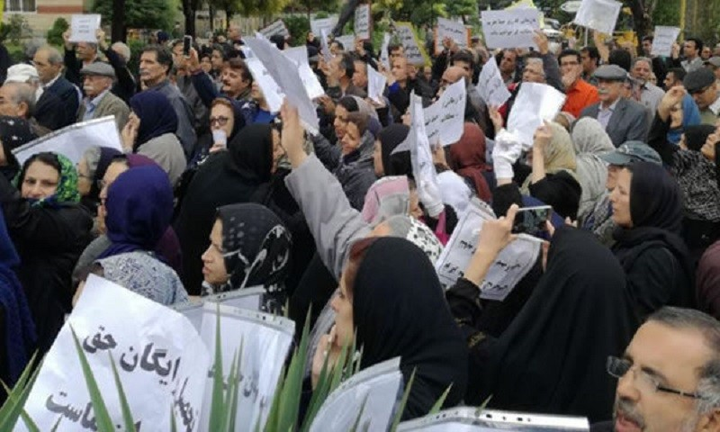 Iran's teachers are on strike due to their miserable living conditions and low wages. (Archive)
