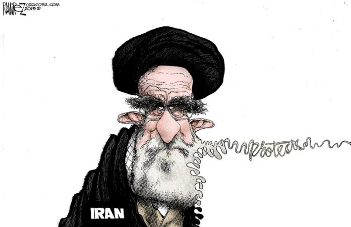 Iran's supreme leader Ali Khamenei is facing a daily challenge to his rule.