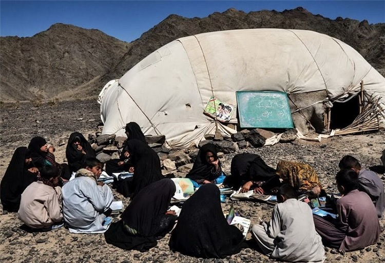 Stone, clay brick, and mud schools in different Iranian provinces, a flipside of the government's charities for extremist proxies in the Middle East and launching a satellite