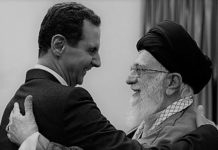 Syrian dictator Bashar Al-Assad with the Iranian regime's supreme leader Ali Khamenei