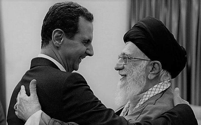 Syrian dictator Bashar Al-Assad with the Iranian regime's supreme leader Ali Khamenei