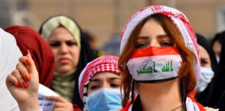 Iraqi women protest for a new Iraq