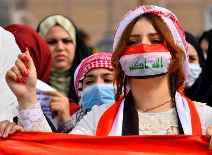 Iraqi women protest for a new Iraq