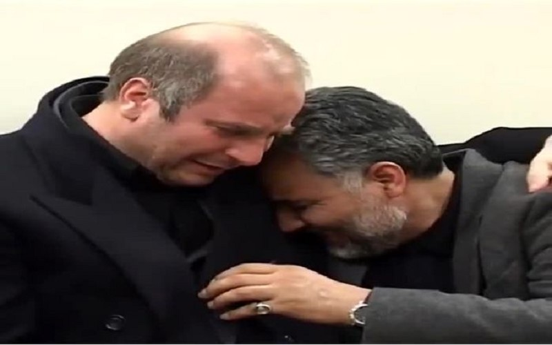 Ghalibaf hugged Soleimani to console him over the killing of an IRGC member