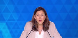 Ingrid Betancourt at the big rally for the Iranian Resistance in Villepinte June 30, 2018