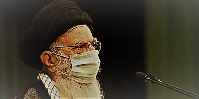Iran regime's supreme leader Ali Khamenei speaking to MPs