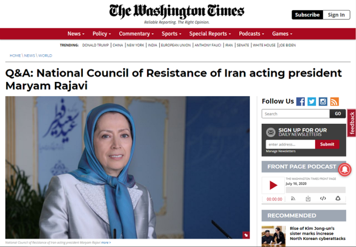 The Iranian Resistance's president Maryam Rajavi calls on the world to adopt a firm policy against the mullahs' regime