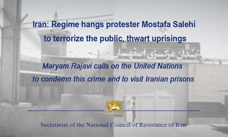 Opposition Leader Calls for UN Investigation of Iran Prisons After the Execution of Protester