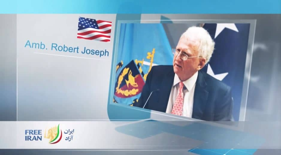 Ambassador Robert Joseph, former Undersecretary for Arms Control & International Security of the U.S. Department of State, at the online event calling for international support for a free Iran, imposing sanctions targeting the regime & holding the mullahs accountable for their ongoing crimes
