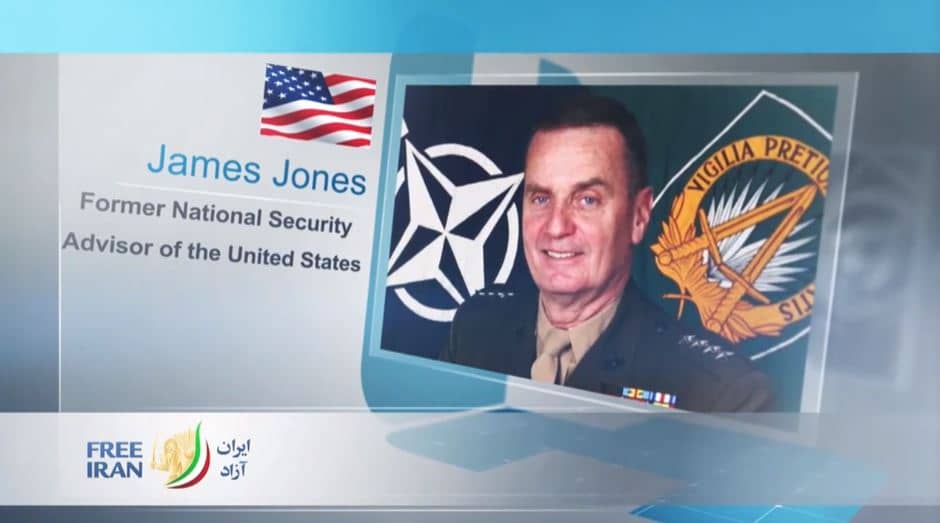 Gen. James Jones, the first National Security Advisor to President Barack Obama and the former Supreme Allied Commander, Europe, at the online event calling for international support for a free Iran, imposing sanctions targeting the regime & holding the mullahs accountable for their ongoing crimes
