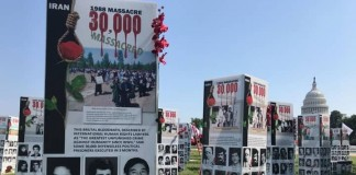 Capitol Hill Ground, thousands of photos and graphics represent the crime of Iran's regime