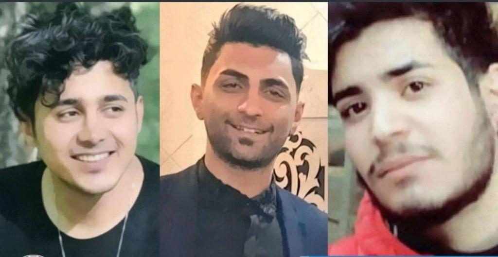 Amir Hossein Moradi, 26, Saeed Tamjidi, 28, and Mohammad Rajabi, 26