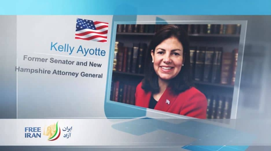 Kelly Ayotte, former U.S. Senator from New Hampshire, at the online event calling for international support for a free Iran, imposing sanctions targeting the regime & holding the mullahs accountable for their ongoing crimes