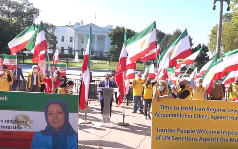 In tandem with the UN General Assembly Summit, MEK supporters held a gathering welcoming U.S. pressures on the Iranian regime