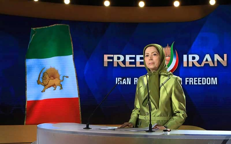 """Any act of firmness against this regime and any steps taken against it, anywhere in the world, will aid the Iranian people's struggle to overthrow the regime and is in line with international peace and security,"" Maryam Rajavi said."