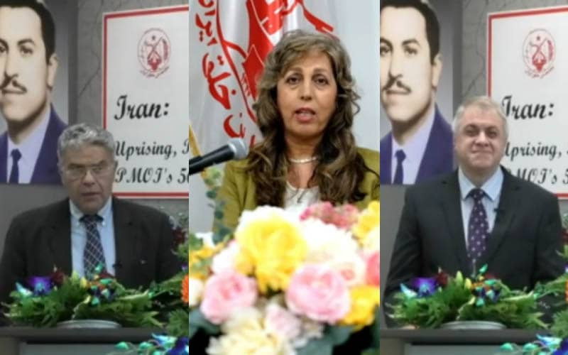 PMOI-MEK supporters in Canada at the Iranian online conference in support of domestic protests for freedom, justice, and equality in Iran—September 5, 2020