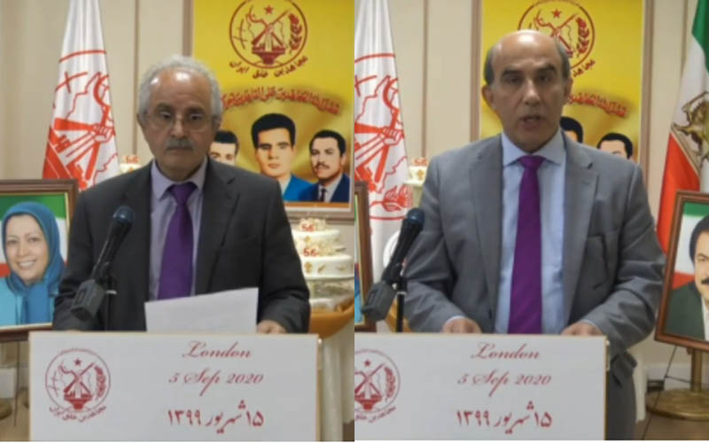 PMOI-MEK supporters in England-London at the Iranian online conference in support of domestic protests for freedom, justice, and equality in Iran—September 5, 2020
