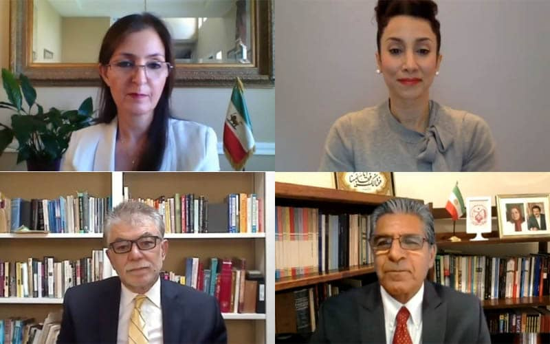 PMOI-MEK supporters in U.S. at the Iranian online conference in support of domestic protests for freedom, justice, and equality in Iran—September 5, 2020