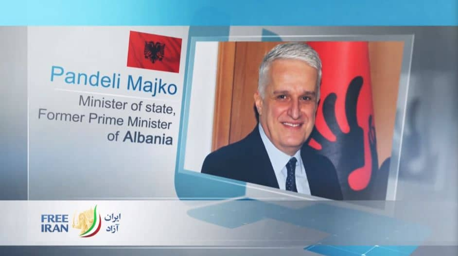 Pandeli Majko, former Prime Minister of Albania, at the online event calling for international support for a free Iran, imposing sanctions targeting the regime & holding the mullahs accountable for their ongoing crimes