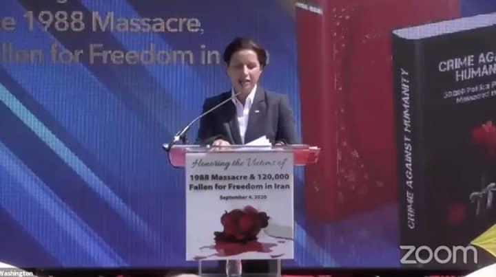Rahileh Sadeghpour, sister of a 1988 massacre victim