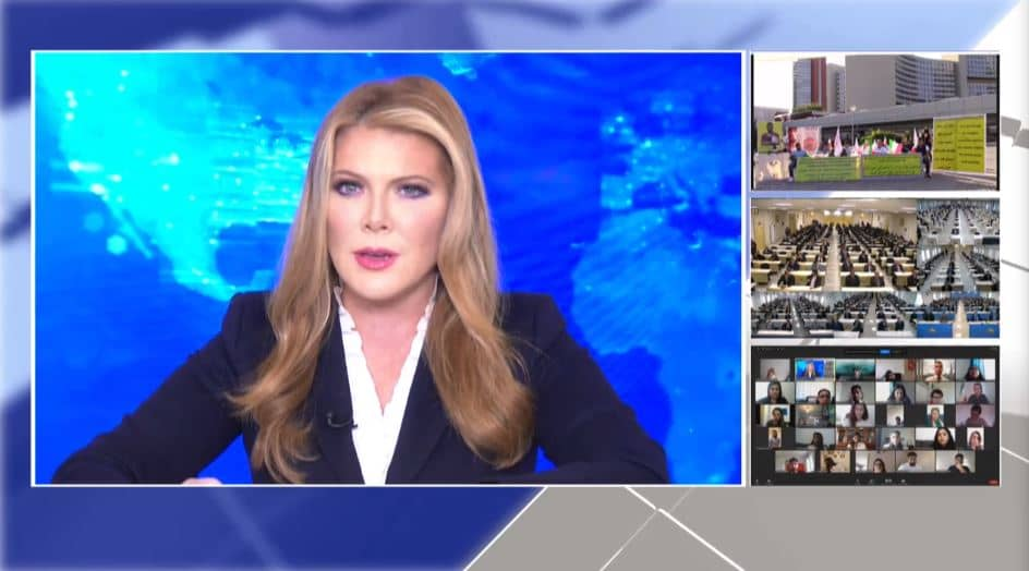 Award-winning journalist Trish Regan hosted the online event calling for international support for a free Iran, imposing sanctions targeting the regime and holding the mullahs accountable for their ongoing crimes