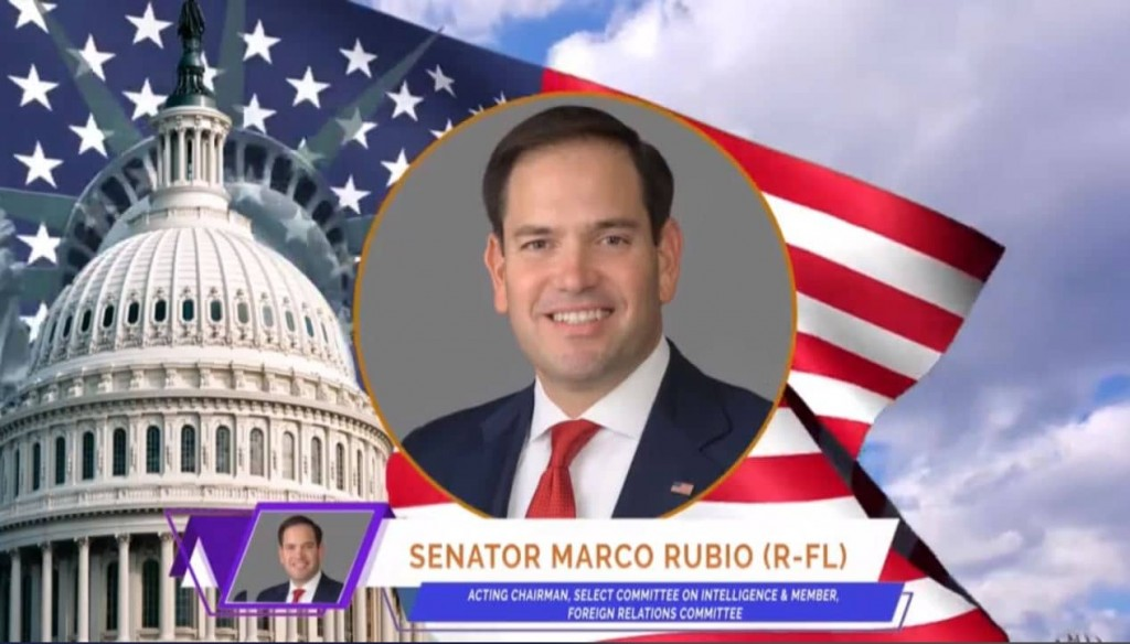 U.S. Senator Marco Rubio, at the online event calling for international support for a free Iran, imposing sanctions targeting the regime & holding the mullahs accountable for their ongoing crimes