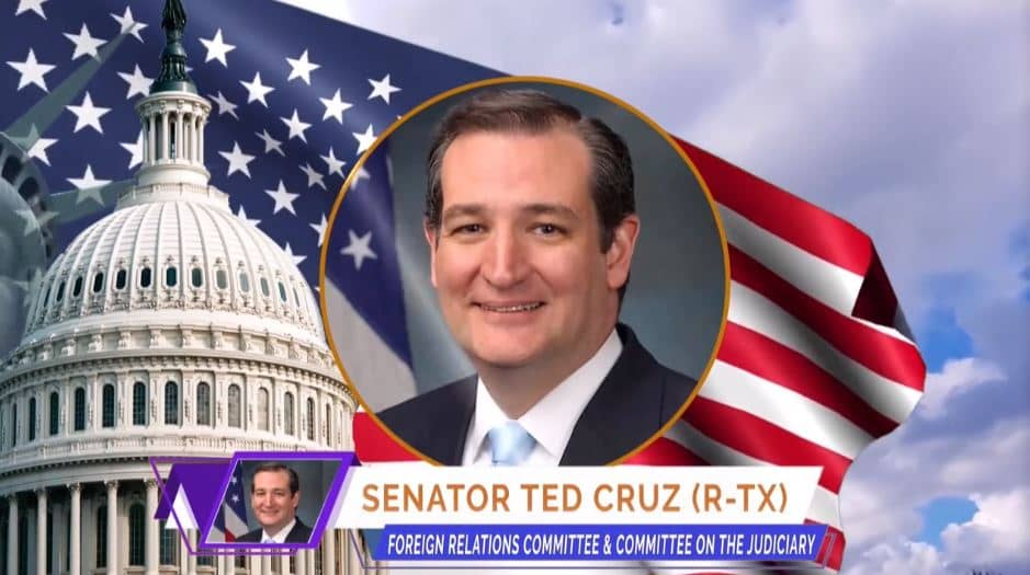 U.S. Senator Ted Cruz, at the online event calling for international support for a free Iran, imposing sanctions targeting the regime & holding the mullahs accountable for their ongoing crimes