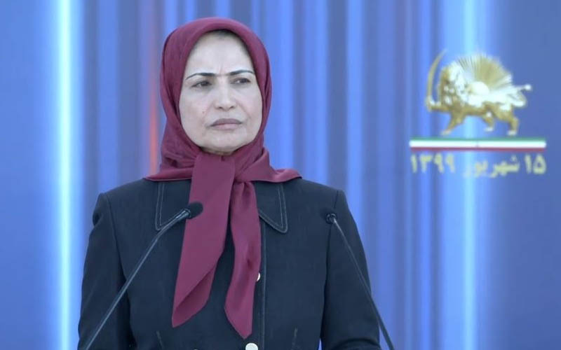 Zahra Merrikhi, Secretary-General of the PMOI-MEK at the Iranian online conference in support of domestic protests for freedom, justice, and equality in Iran—September 5, 2020