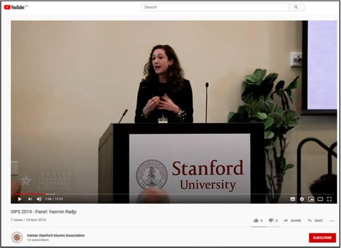 Source: Iranian Stanford Alumni Association, https://www.youtube.com/watch?v=C-HzEicfDyg