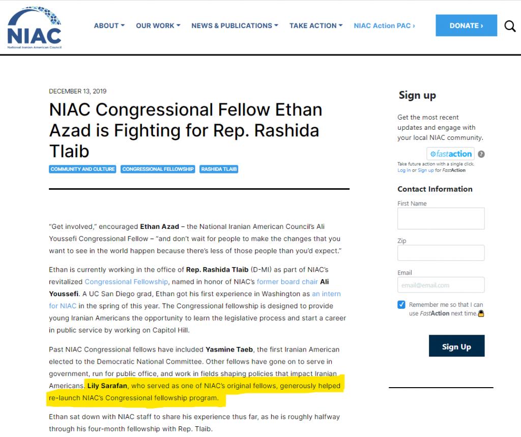 Source: https://www.niacouncil.org/news/niac-congressional-fellow-ethan-azad-fighting-rep-rashida-tlaib/