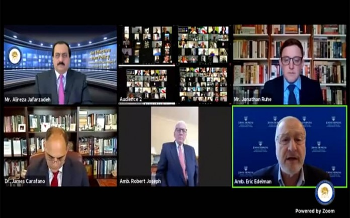 International experts attended a webinar hosted by the NCRI-U.S. Representative, discussing the imperative of sanctions against the Iranian regime