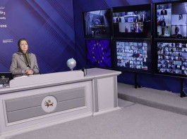 """Human rights for the people of Iran, comprehensive embargo of the religious dictatorship, and recognition of the Iranian people's Resistance for freedom and democracy,"" Maryam Rajavi said."