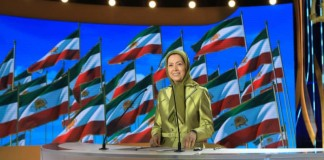 """Any act of firmness against this regime and any steps taken against it, anywhere in the world, will aid the Iranian people's struggle to overthrow the regime, and is in line with international peace and security,"" said Maryam Rajavi."