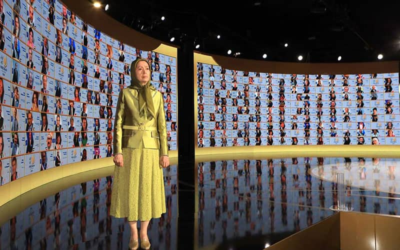"""As Massoud Rajavi has said, 'If someday, the regime abandons the export of fundamentalism and terrorism abroad and limit itself within Iran's boundaries if will implode and disintegrate,'"" said Maryam Rajavi."