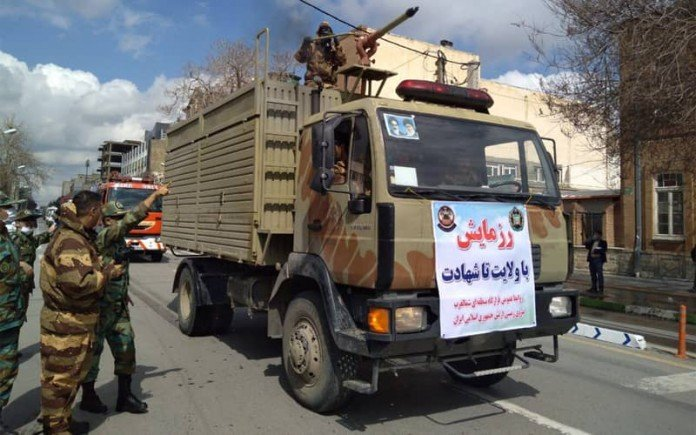 To contain further protests, Iranian authorities impose martial law under the banner of countering the coronavirus crisis.