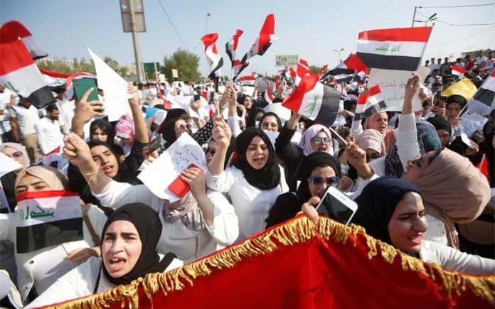 Despite Tehran-back militias' effort to suppress Iraq's October Revolution, Iraqis resume protests, demanding a halt to Iran's meddling.