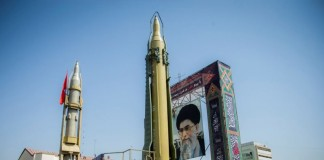 While Iranian citizens scramble with poverty and need essential supplies, authorities show-off their missile to prevent any objection.