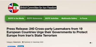 In their joint statement, 240 European lawmakers warned against appeasement of the Iranian regime, which emboldened the mullahs' terrorism.