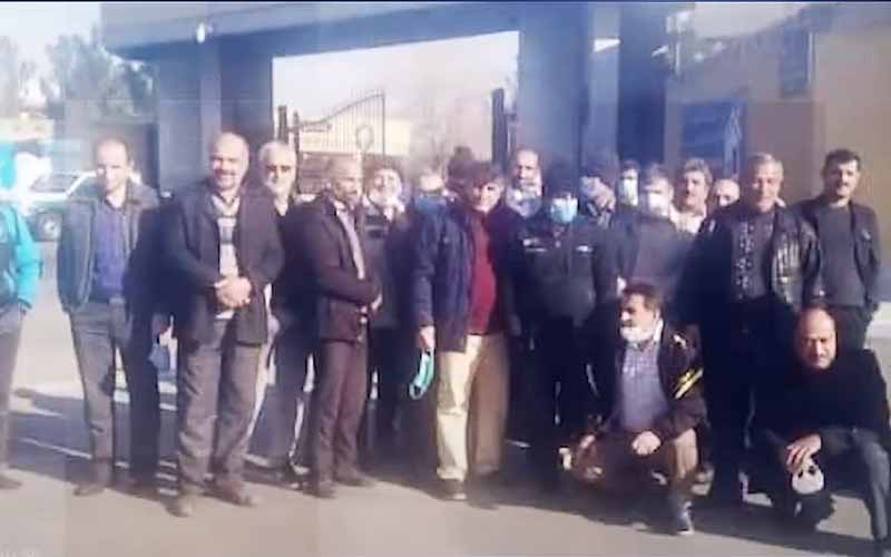 Rally of Unemployed Workers of Rangin Nakh Factory