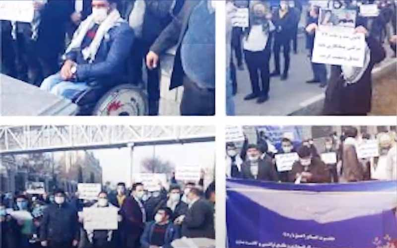 Gathering of Veteran Employees in front of Majlis