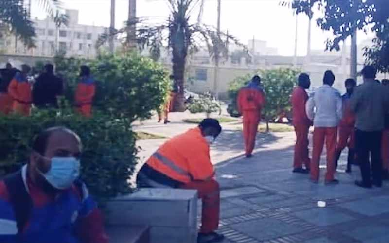 Municipal Waste Workers Rally in Bushehr Port