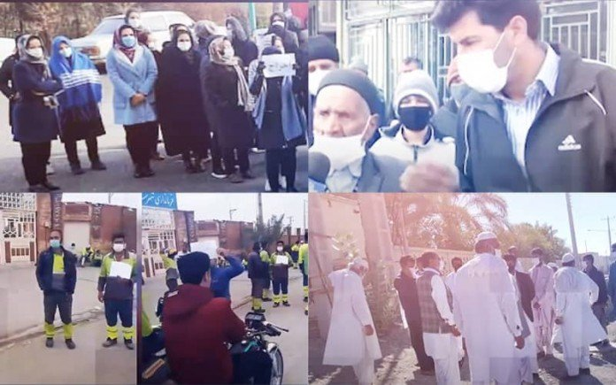 The Iranian people from different walks of life express their complaint and disappointment toward authorities through holding protesting rallies in various cities.