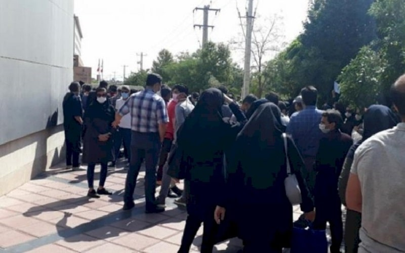 In Mashhad, a group of nurses held a demonstration in front of the governor's office to protest having not received their wages for several months.