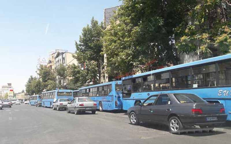 Urmia Bus Drivers' Protest in Front of Majlis
