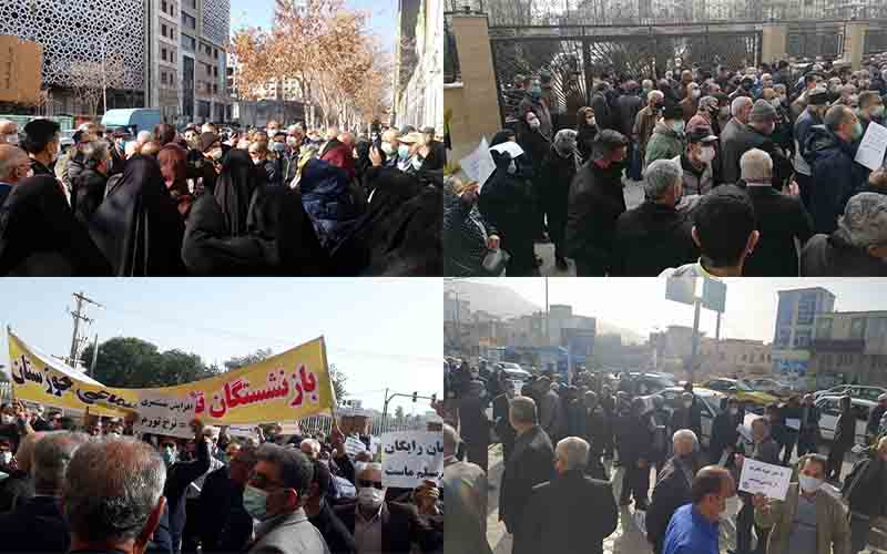 Widespread Rally of Retirees and Pensioners in Different Cities