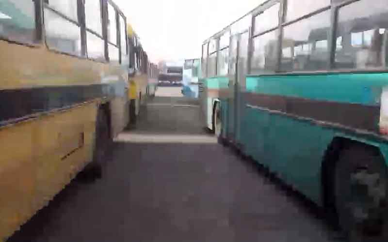 Bus Drivers' Protest About Fuel Shortage—Iranian citizens continue protests on January 28