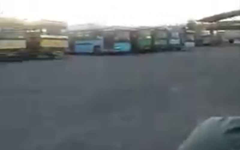 Rally of Taxi and Bus Drivers