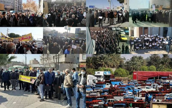 On January 26, Iranian citizens held at least four rallies and strikes, including retirees' widespread protests in 15 cities across Iran.