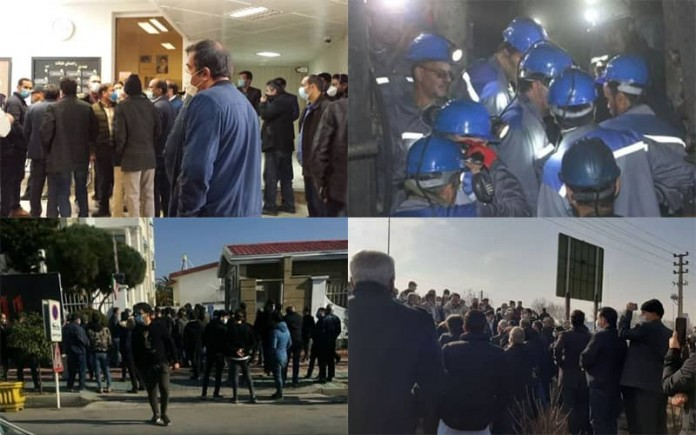 On January 14, Iranian citizens continued their protests against the regime's mismanagement through at least five rallies and strikes.